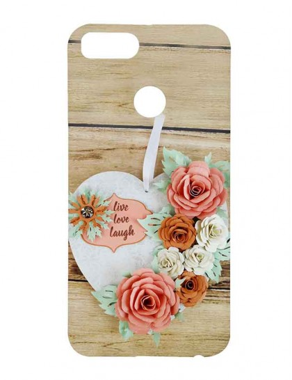 "Typography Of ""Live, Love Laugh"" Wall Hanging - Xiaomi Mi A1 Printed Hard Back Cover."