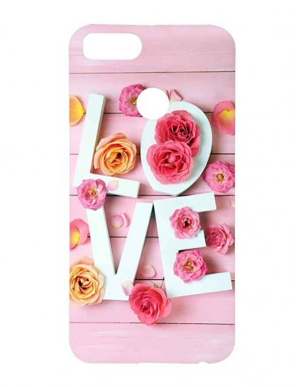 Love Typography With Roses - Xiaomi Mi A1 Printed Hard Back Cover.
