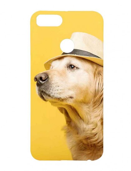Dog With Hat - Xiaomi Mi A1 Printed Hard Back Cover.