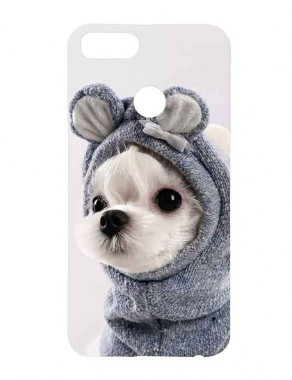 Dog With Bunny Dress - Xiaomi Mi A1 Printed Hard Back Cover.