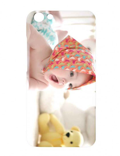 Cute Baby With Scarf - Vivo Y69 Printed Hard Back Cover.