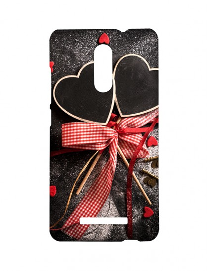Two Heart Shaped Design Sticked To A Stick - Xiaomi Redmi Note 3 Printed Hard Back Cover.