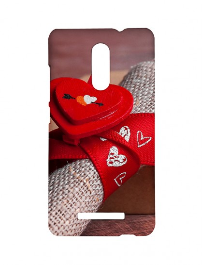 A Red Ribbon With Heart Design -Xiaomi Redmi Note 3 Printed Hard Back Cover.
