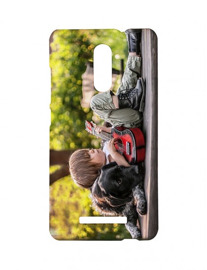 Boy With Guitar Sleeping On A Dog -Xiaomi Redmi Note 3 Printed Hard Back Cover.