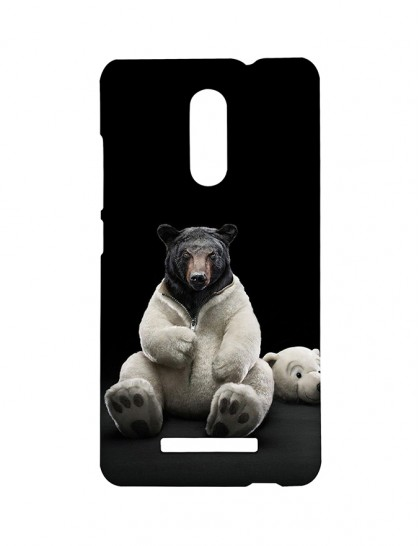 Black Bear With Polar Bear Costume -Xiaomi Redmi Note 3 Printed Hard Back Cover.