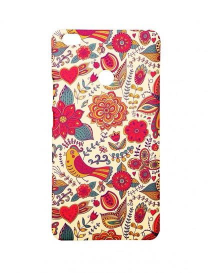 Birds & Flower Pattern - Mi Max  Printed Hard Back Cover.