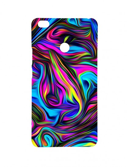 Design Pattern With Colorful Texture - Mi Max Printed Hard Back Cover.