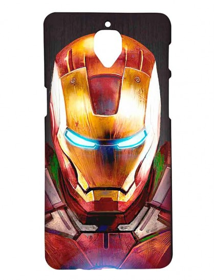 Iron Man Angry Face - One Plus 3 / OnePlus 3T Printed Hard Back Cover