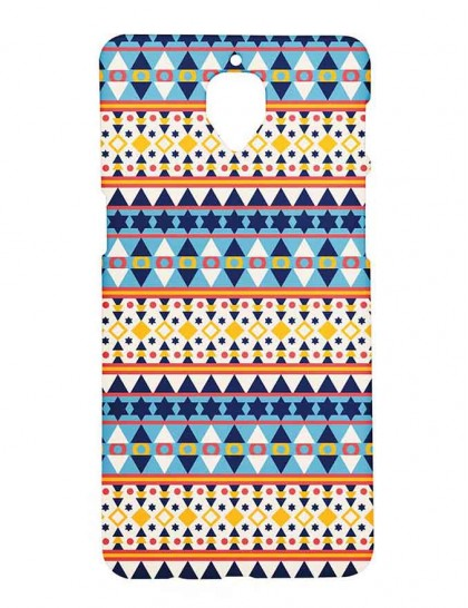 Aztec Pattern Version - One Plus 3 / 3T - Printed Back Cover.