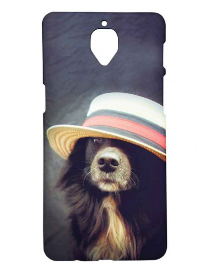 Dog With Hat - One Plus 3 / OnePlus 3T Printed Hard Back Cover.