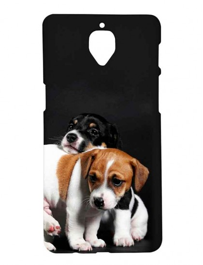 Cute Puppies - One Plus 3 / OnePlus 3T Printed Hard Back Cover.