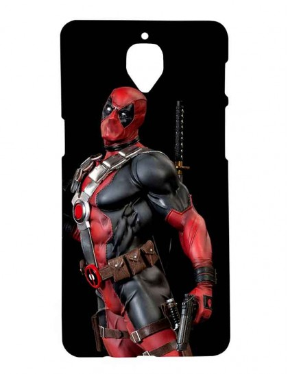Angry Looking Deadpool - One Plus 3 / 3T - Printed Back Cover.