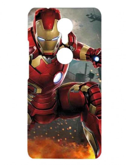 The Iron Man Fighting - Gionee A1 Printed Hard Back Cover.