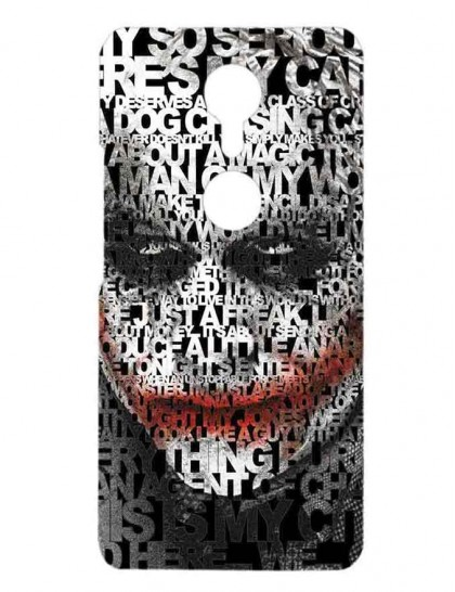 The Typography Of Joker - Gionee A1 Printed Hard Back Cover.