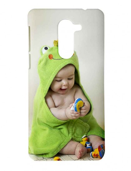 Cute Baby Playing With Toy -  Honor 6x Printed Hard Back Cover.