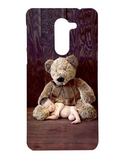 Cute Baby Sleeping On Teddy's Leg - Honor 6x Printed Hard Back Cover.