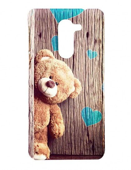 The Brown Teddy With Heart Background - Honor 6x Printed Hard Back Cover.