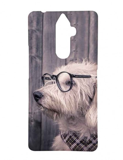 Havanese Dog With Specs - Lenovo K8 Note Printed Hard Back Cover.