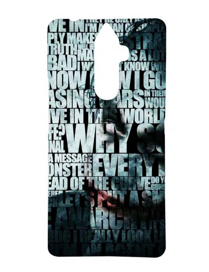 The Typography Of Joker - Lenovo K8 Note Printed Hard Back Cover.