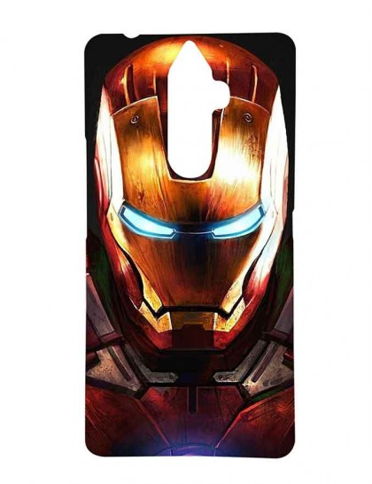 Angry Iron Man Face - Lenovo K8 Note Printed Hard Back Cover.