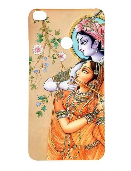Lord Krishna & Radha - Mi Max 2 Printed Hard Back Cover.