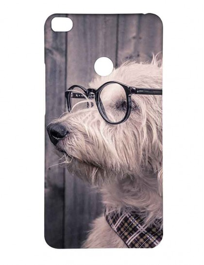 The Havanese Dog With specs - Mi Max 2 Printed Hard Back Cover.