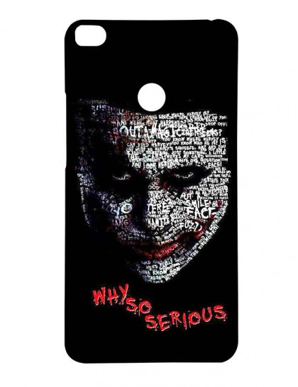 The Joker Typography Type - Mi Max 2 Printed Hard Back Cover.