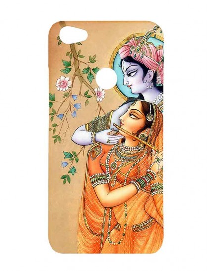 Lord Krishna & Radha With Flute - Xiaomi Redmi Y1 Printed Hard Back Cover.