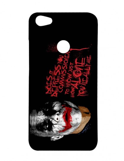 The Joker With Typography -  - Xiaomi Redmi Y1 Printed Hard Back Cover.