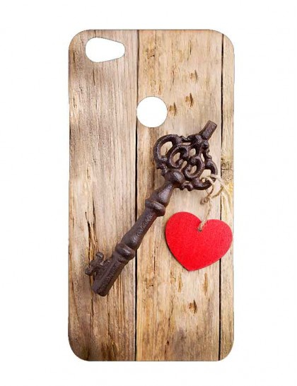 Door Handle Tied With  Heart Shaped Dollar - Xiaomi Redmi Y1 Printed Hard Back Cover.