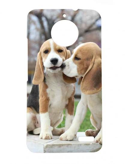 Beagle Couples - Motorola Moto E4 Printed Hard Back Cover.