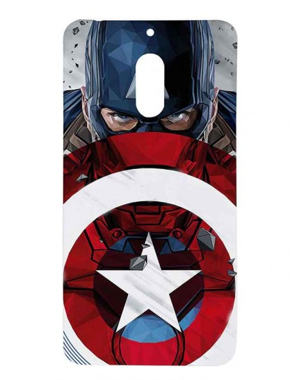 Captain America With Shield - Nokia 6 Printed Hard Back Cover