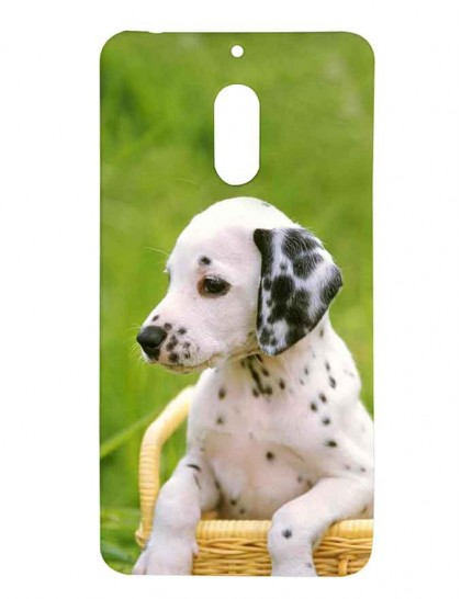 Dalmatian Dog In A basket - Nokia 6 Printed Hard Back Cover