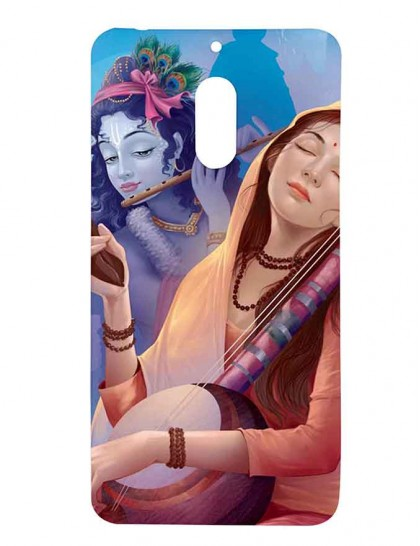 Lord Krishna & Meera - Nokia 6 Printed Hard Back Cover