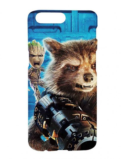 Groot & Rocket Raccoon From Guardians of the Galaxy - One Plus 5 Printed Hard Back Cover.