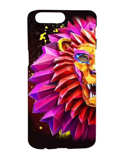 3D Lion Painting - One Plus 5 Printed Hard Back Cover