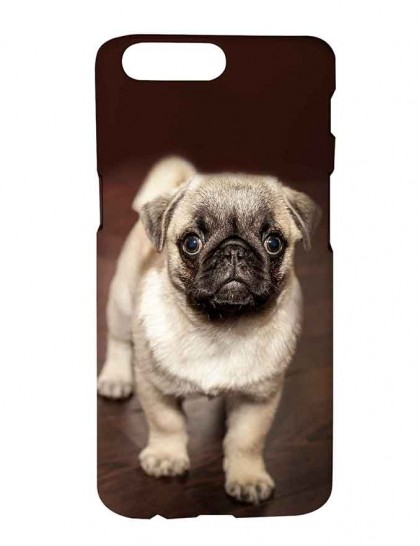 The Brown Pug Dog - One Plus 5 Printed Hard Back Cover