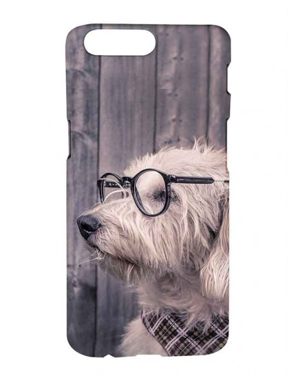 Havanese Dog With Specs - One Plus 5 Printed Hard Back Cover