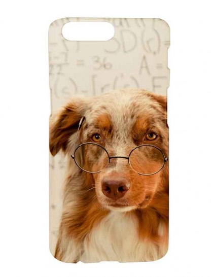 Australian Shepherd Dog With Specks - One Plus 5 Printed Hard Back Cover