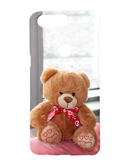 Brown Teddy Near Window - One Plus 5T  Printed Back Cover.