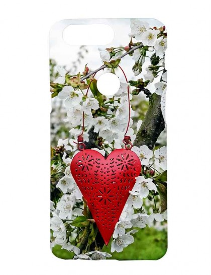 Excellent Charmant Red Heart Decoration - One Plus 5T  Printed Back Cover.