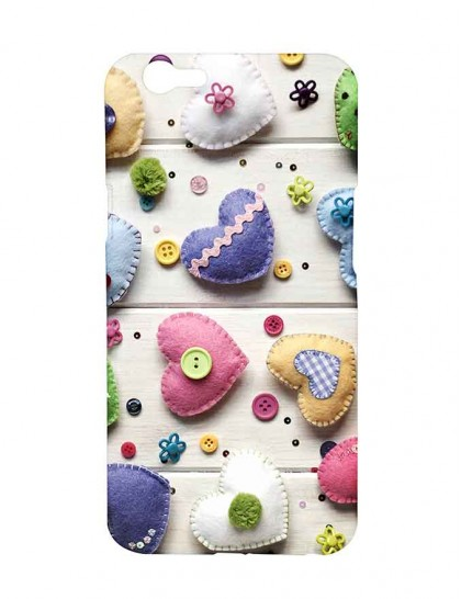 Heart Shaped Craft Work - Oppo F1s Printed Hard Back Cover.