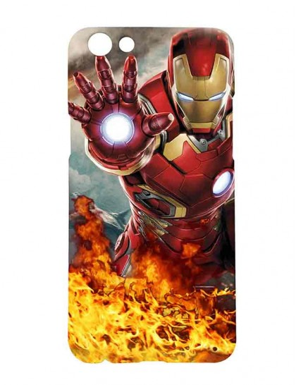 The Iron Man - Oppo F3 Printed Hard Back Cover.