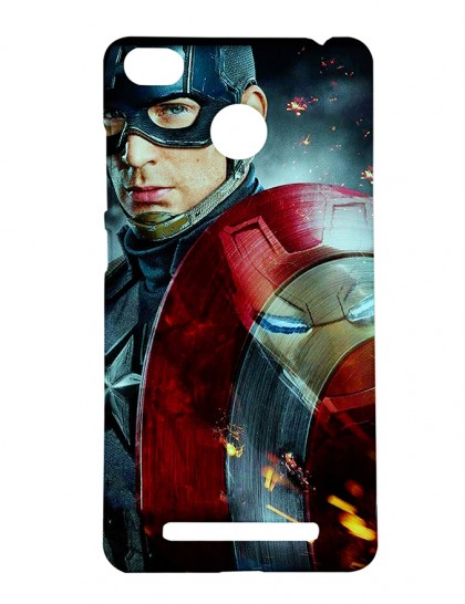 Captain America With Shield - Xiaomi Redmi 3s Prime Printed Hard Back Cover.