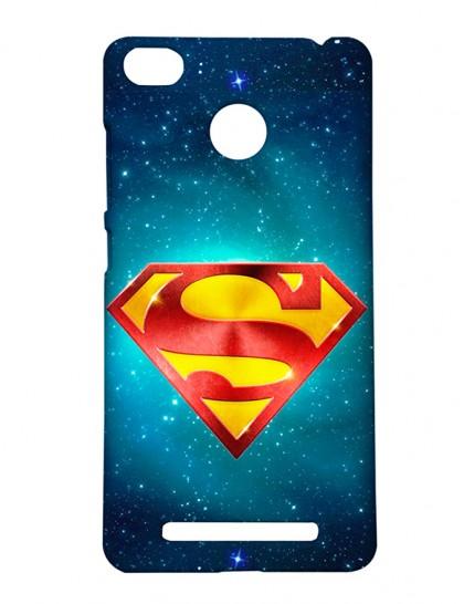 The Man Of Steel Superman Logo - Xiaomi Redmi 3s Prime Printed Hard Back Cover.