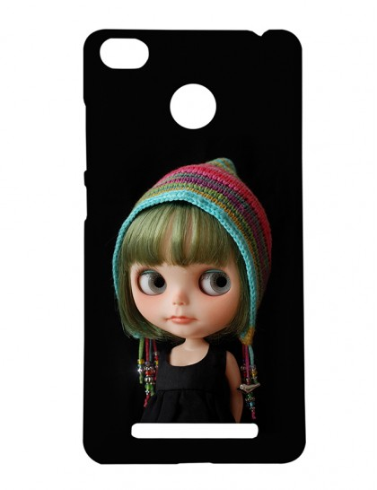 Cute Girl With Colorful Scarf - Xiaomi Redmi 3s Prime Printed Hard Back Cover.