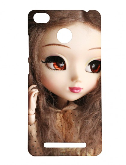 Cute Girl With Brown Eyes And Brown Hair - Xiaomi Redmi 3s Prime Printed Hard Back Cover.