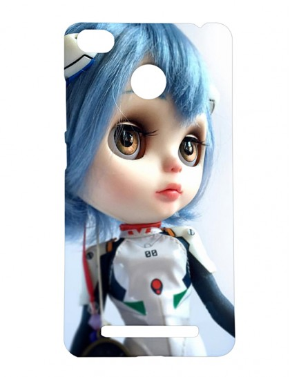 Doll With Blue Hair And Brown Eyes - Xiaomi Redmi 3s Prime Printed Hard Back Cover.