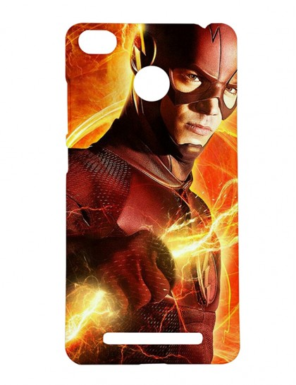 The Angry Looking Flash - Xiaomi Redmi 3s Prime Printed Hard Back Cover.