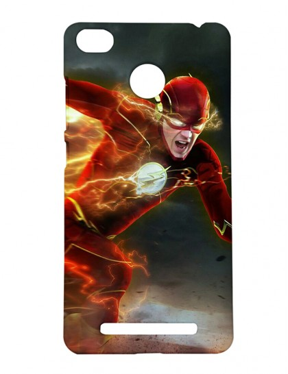 The Flash Running - Xiaomi Redmi 3s Prime Printed Hard Back Cover.